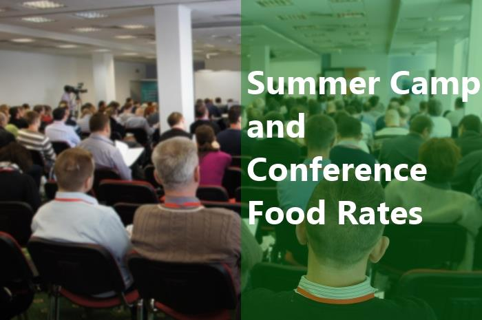 Summer Camp and Conference Food Rates